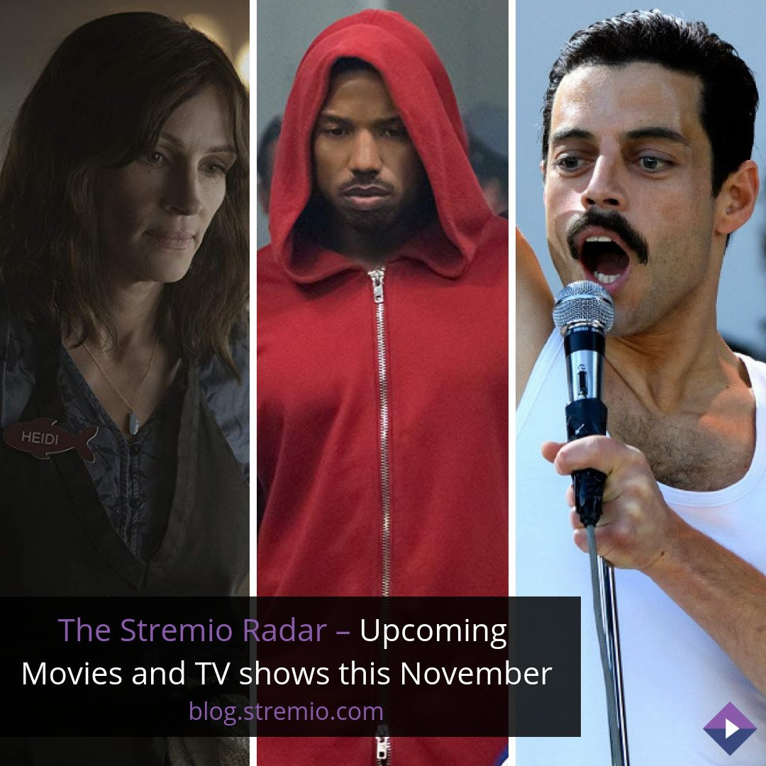 The Stremio Radar – Upcoming Movies and TV shows this November